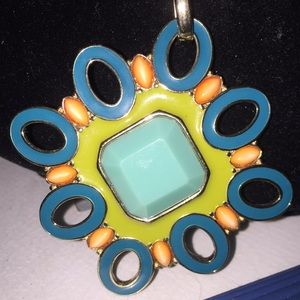 "Accessories - Colorful Pendent necklace 30"" pendant appx. 3 3/4"""